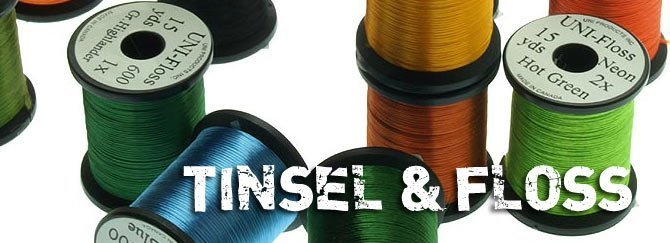 Tinsel, floss, wire m.m.