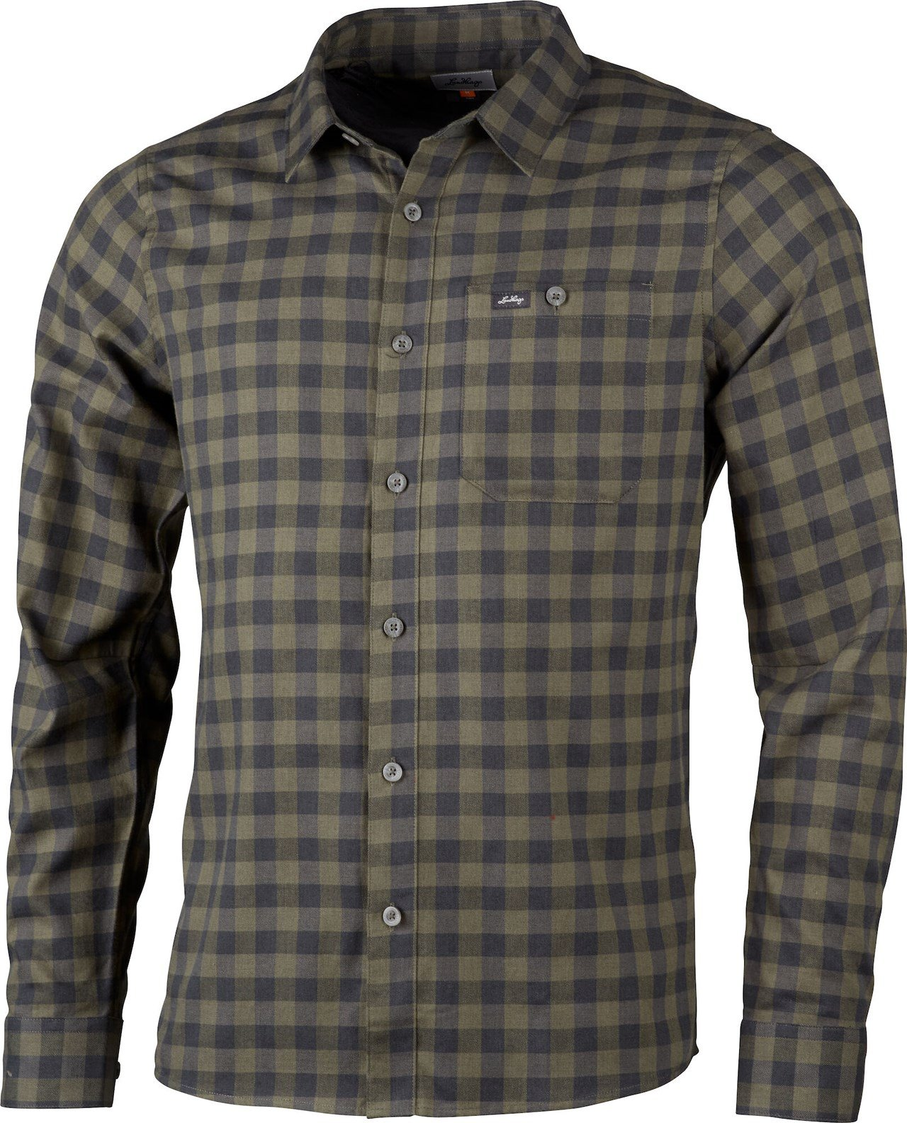 Lundhags - ekren ms ls shirt - forest green thumbnail