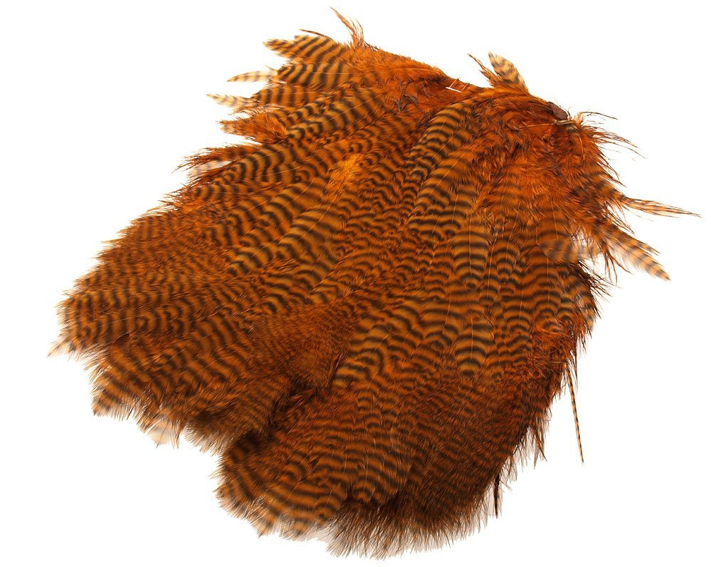 Image of   Giant softhackle patch grizzly burnt orange