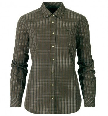 Seeland Claire Lady Skjorte Olive Night Check