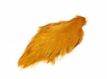 Chinese Cock Cape Dyed Banana Yellow