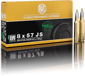 RWS Evolution Green 8x57 JS 9 g - 20 stk