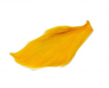 Chinese Cock Cape Dyed Yellow