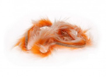 Two Toned Rabbit Strips - White Tipped / Hot Orange
