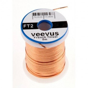 Veevus Oval Tinsel Copper
