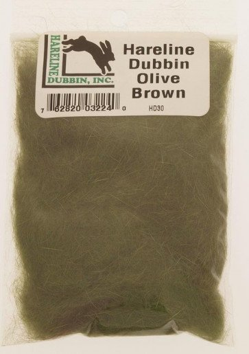 Hareline dub olive brown