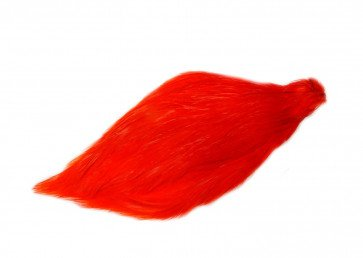 Chinese Cock Cape Dyed Hot Orange