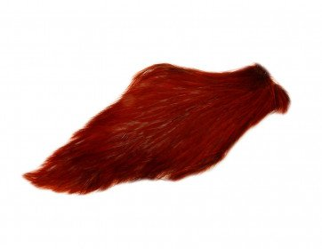 Chinese Cock Cape Red Game (Dyed Natur Rødbrun)