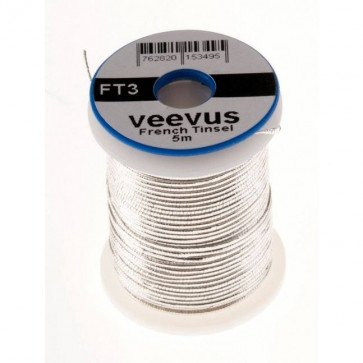 Veevus Oval Tinsel Silver