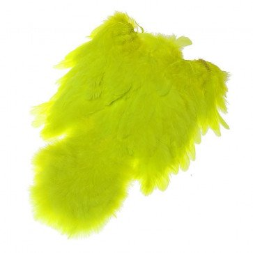 Whiting Soft Hackle with Chikabou - Fl. Yellow Chartreuse