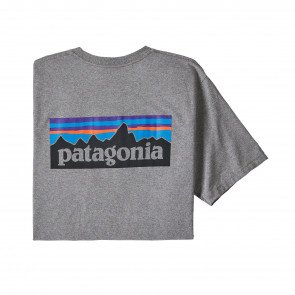 Patagonia Men's P-6 Logo Responsibili-Tee Gravel Heather