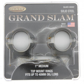 "Weaver - Grand Slam 1"" medium top mount rings 40mm - kikkert Montage 49302"