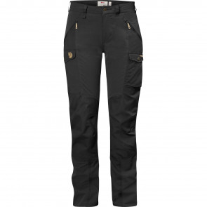 Nikka Curved Trousers W Black