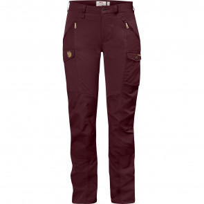 Nikka Curved Trousers W Dark Garnet