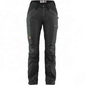 Fjällräven Kaipak Trousers Curved W Dark Grey-Black