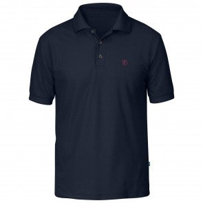 Fjällräven Crowley Pique BlueBlack Polo Herre