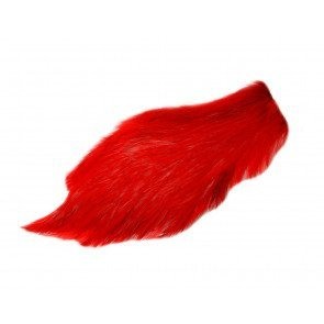 Chinese Cock Cape Dyed Red