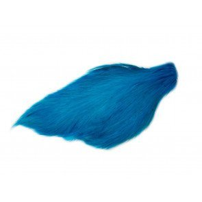 Chinese Cock Cape Dyed Kingfisher Blue