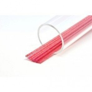 Futurefly tubes Clear Red Glitter