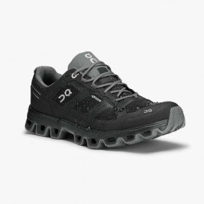 On Cloudventure Waterproof Dame - Black/Graphit