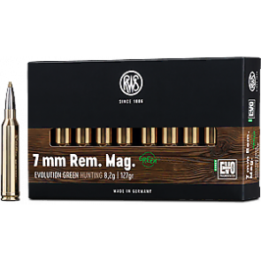 RWS Evolution Green 7 mm Rem Mag 8,2g Blyfri  - 20 stk