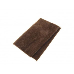 Furry foam dark brown