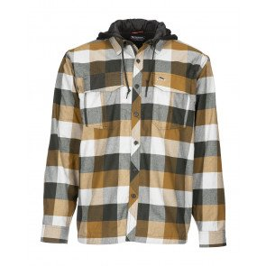 Simms Coldweather Hoody Rusty Red Buffalo Plaid