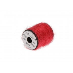 UNI Mohair yarn Fluoro Red