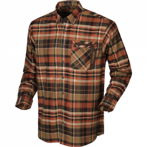 Härkila Newton L/S Skjorte Dark Burnt Orange Check