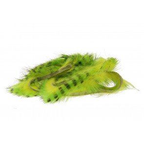 Tiger Barred Rabbit Strips - Black Barred Chartreuse/FL. Yellow