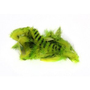 HL Tiger Barred Magnum Rabbit Strips Black Barred Chartreuse/Fl. Yellow