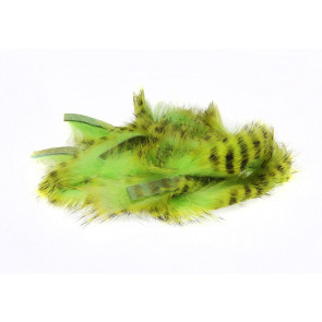 Tiger Barred Magnum Rabbit Strips   Black Barred Chart./Green Chartreuse