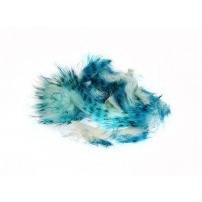 HL Tiger Barred Magnum Rabbit Strips Blue / Black over White