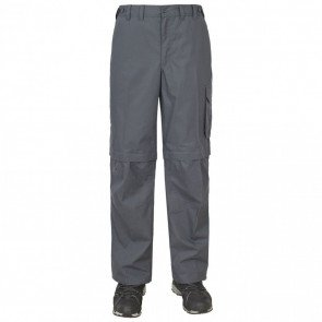 Trespass Mallik Men's Hurtigtørrende Zip-Off Bukser Graphite