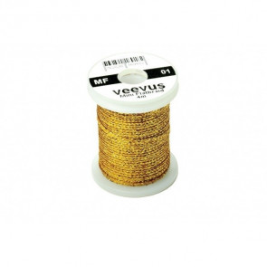 Veevus Mini Flatbraid Shiny Gold