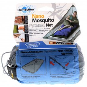 Nano Mosquito Pyramid Net Single - Grey
