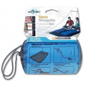 Nano Mosquito Pyramid Net Double Grey