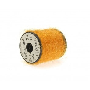 Mohair yarn  fluoro orange