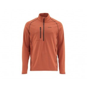 Simms Fleece Midlayer Top - Simms orange
