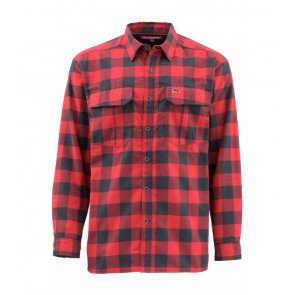 Simms Coldweather Shirt Red Buffalo Plaid