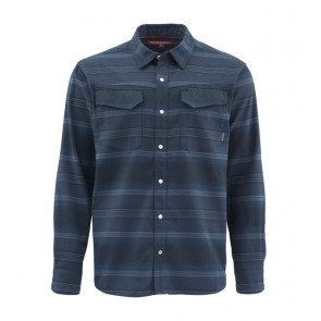 Simms Gallatin Flannel Shirt Admiral Blue Stripe