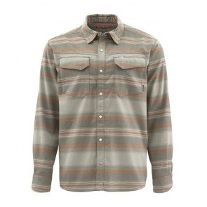Simms Gallatin Flannel Shirt Dark Stone Stripe