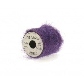 Mohair yarn purple