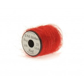 Mohair yarn  red