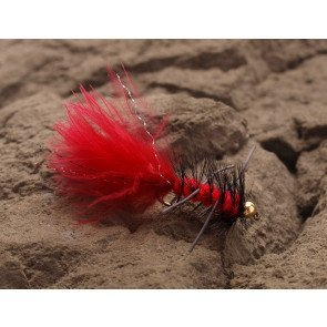 Wooly Rubberleg Fluo Red
