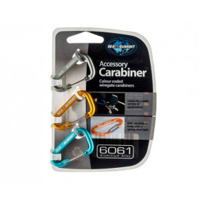 Accessory Carabiner Set 3pcs Mixed