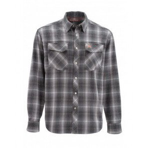 Simms Gallatin Flanel Shirt Raven #MEDIUM