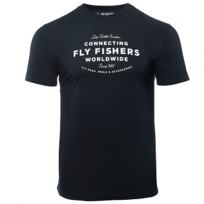 Loop - Connecting Fly Fishers Worldwide - T-shirt - Black