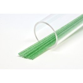 Image of   Futurefly tubes green with green glitter