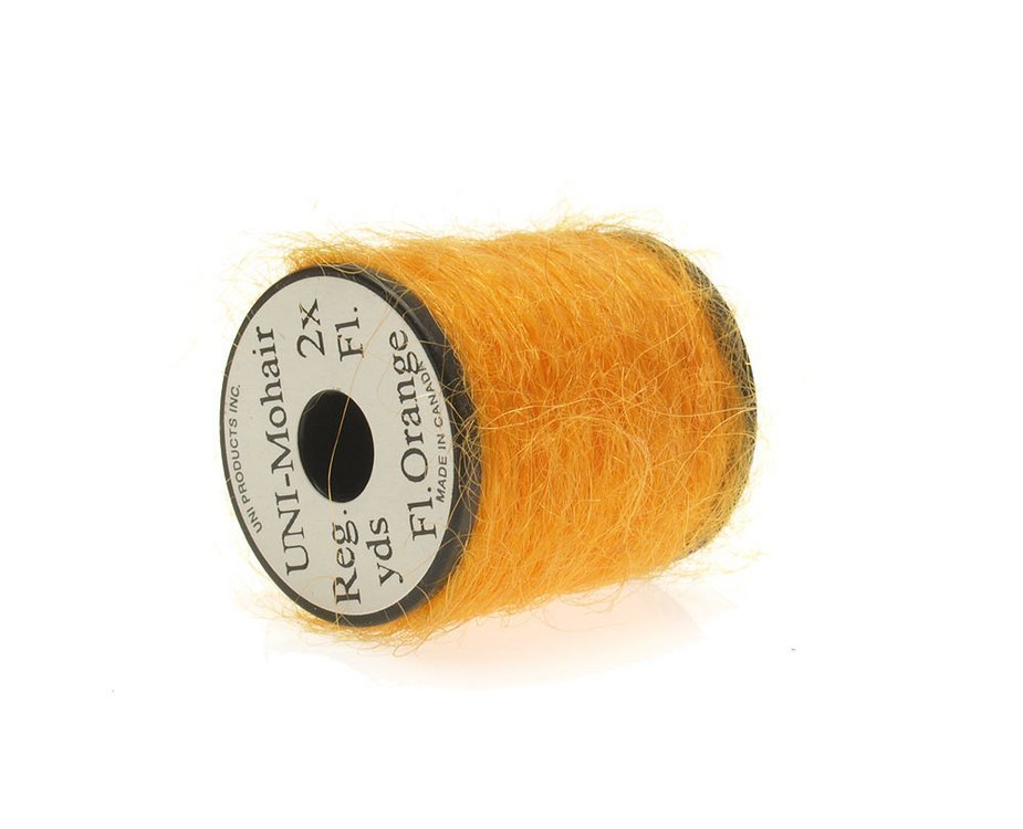 Image of   Mohair yarn fluoro orange
